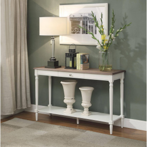 Convenience Concepts French Country Console Table with Drawer and Shelf