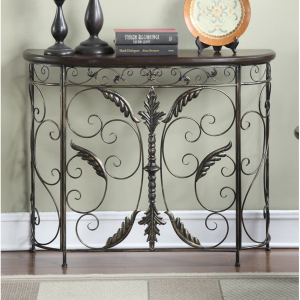 Convenience Concepts Wyoming Crescent Console Table