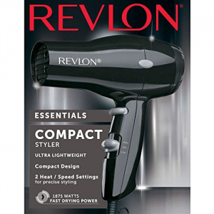 Revlon 1875W Compact & Lightweight Hair Dryer, Black @ Amazon