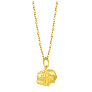 Chinese Gifting Collection 'New Year & Chinese Zodiac' 999.9 Gold Piggy Pendant