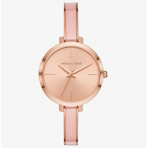 MICHAEL KORS Jaryn Rose Gold-Tone and Acetate Watch