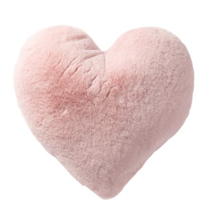 "Snuggle Faux Fur Heart Pillow - 16"""