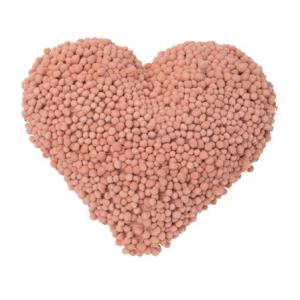 """Heart Pom Pillow 18.5""""x16"""""""