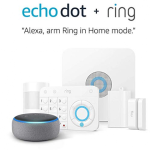 $89.99 off Ring Alarm 5 Piece Kit + Echo Dot (3rd Gen), Works with Alexa @ Amazon