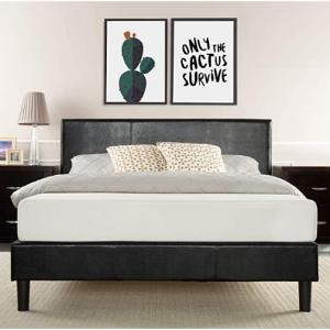 Zinus Jade Faux Leather Upholstered Platform Bed (King) @Walmart