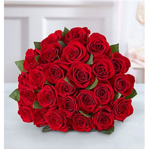 1-800-Flowers: Fresh Flowers - Two Dozen Red Roses Bouquet Only