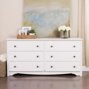 Prepac Monterey 6-Drawer Large Dresser