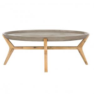 "Safavieh Hadwin Modern Concrete Oval 31.5"" Dia Coffee Table"