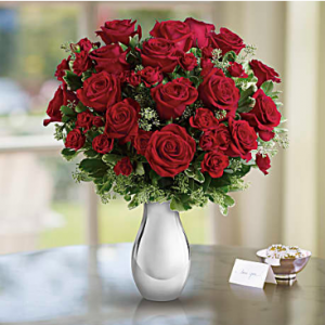 Teleflora's True Romance Bouquet with Red Roses Standard