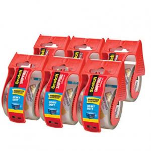 "6-Pack Scotch Heavy Duty Packaging Tape w/ Dispenser (1.88"" x 800"") @Amazon"