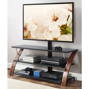 """Whalen Brown Cherry 3-in-1 Flat Panel TV Stand for TVs up to 65"""" @Walmart"""