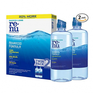 $9.29 (Was $13.99) For Bausch + Lomb ReNu Lens Solution 12 Ounce Bottle Twinpack