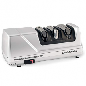 Chef'sChoice 130 Professional Electric Knife Sharpening Station for Straight and Serrated Knives