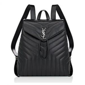 SAINT LAURENT Monogram Loulou Leather Backpack