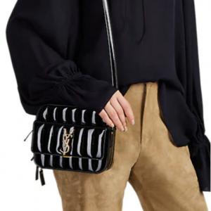 SAINT LAURENT Monogram Vicky Patent Leather Camera Bag
