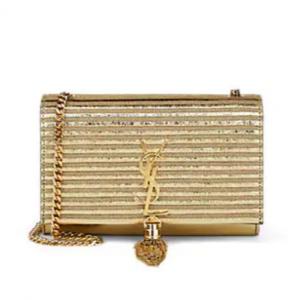 SAINT LAURENT Monogram Kate Leather Chain Bag