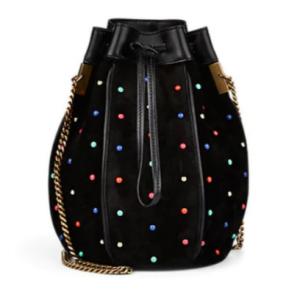 SAINT LAURENT Talitha Small Suede Bucket Bag