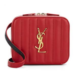 SAINT LAURENT Monogram Vicky Small Leather Belt Bag