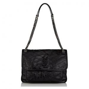 SAINT LAURENT Monogram Niki Medium Leather Shoulder Bag