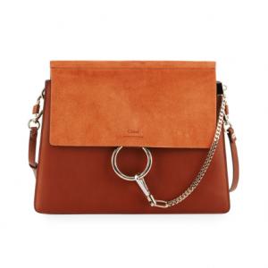 Chloe Faye Medium Leather & Suede Shoulder Bag