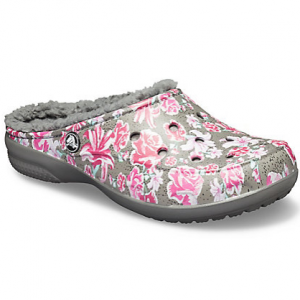 Women's Crocs Freesail Graphic Fuzz-Lined Clog