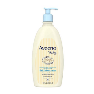 Aveeno Baby Daily Moisture Lotion with Natural Colloidal Oatmeal & Dimethicone, Fragrance-Free, 18