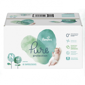 Pampers Pure Disposable Baby Diapers, Hypoallergenic and Fragrance Free Protection, Newborn Size N