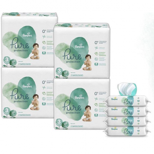 Pampers Pure Disposable Baby Diapers Size 3, 108 Count