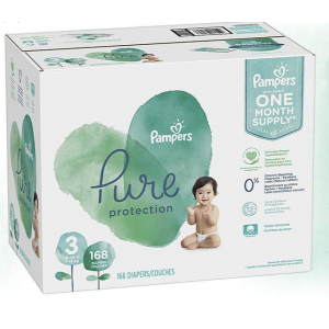 Size 3, 168 Count - Pampers Pure Disposable Baby Diapers, Hypoallergenic and Fragrance Free Protec