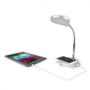 Mainstays LED Desk Lamp with Qi Wireless Charging and USB Port @Walmart