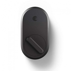 August Smart Lock, 3rd Gen technology - Dark Gray, Works with Alexa