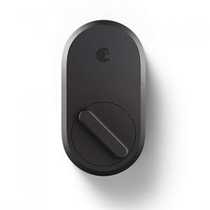 August Smart Lock, 3rd Gen technology - Dark Gray, Works with Alexa @ Amazon
