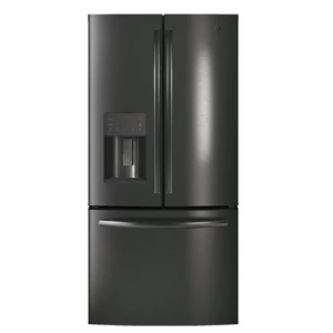 GE  GYE18JBLTS 33 Inch Counter Depth French Door Refrigerator