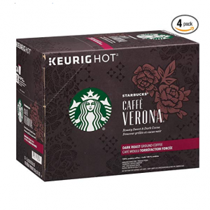 $50.14 Starbucks Caffè Verona Dark Roast Single Cup Coffee for Keurig Brewers @ Amazon