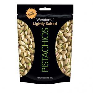 $4.99  Wonderful Pistachios Lightly Salted 16 oz @ Walgreens