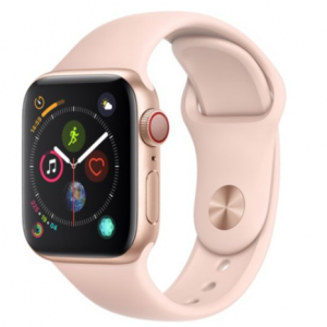 Apple Watch Series 4 GPS + Cellular Gold Aluminum Case with Pink Sport Band