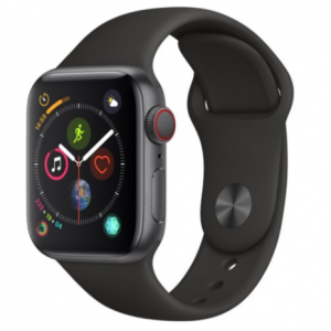 Apple Watch Series 4 GPS + Cellular Space Gray Aluminum Case with Black Sport Band