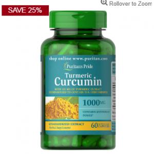 Puritan's Pride Turmeric Curcumin 1000 mg with Bioperine 5 mg