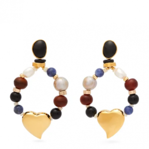 LIZZIE FORTUNATO  Candy Heart multi-stone earrings