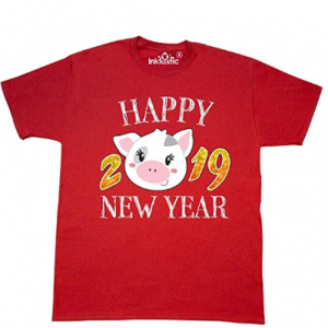 "From $7.50 ""Year Of The Pig Happy New Year 2019"" T Shirts @ Amazon"