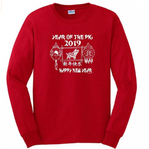 Chinese New Year Outfit Year of Pig 2019 Lanterns Long Sleeve T-Shirt from $25.99