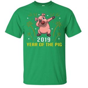 New Year of The Pig Dabbing Gift 2019 Chinese Shirt - Unisex Tshirt Sweatshirt from $17.95