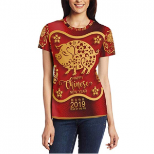Happy Chinese New Year 2019 of The Pig Women's Short Sleeve T-Shirt Top Tee