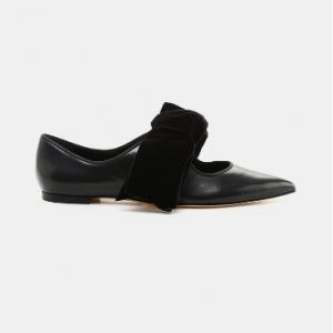Tory Burch Clara Bow Flat Perfect Black/perfect Black Caprine