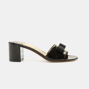 Salvatore Ferragamo Eolie Vara Bow Patent Leather Sandal