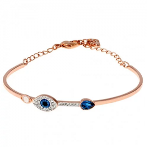 Move your mouse over image or click to enlarge SWAROVSKI Duo Evil Eye Bangle
