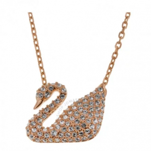 SWAROVSKI Crystal Pave Swan Necklace