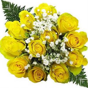 Ten Dozen Yellow Rose Bouquets