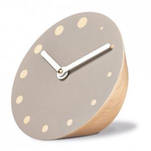 Siebensachen by Adam + Harborth Rockaclock Desk Clock in Beech and Grey