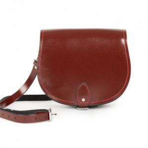 Gweniss Avery Saddle Bag - Oxblood Patent